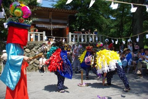 芦ヶ久保の獅子舞の画像