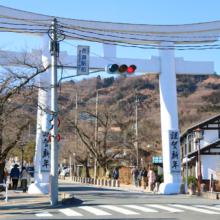 寶登山神社初詣の様子