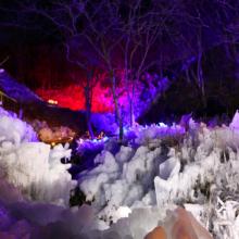 あしがくぼの氷柱ライトアップの画像