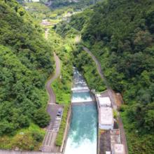 浦山ダム洪水調節中の画像
