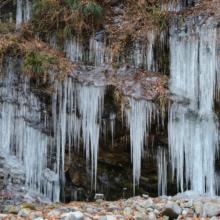 三十槌の氷柱の画像