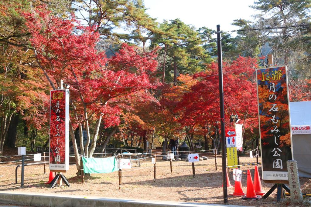 月の石もみじ公園紅葉の画像