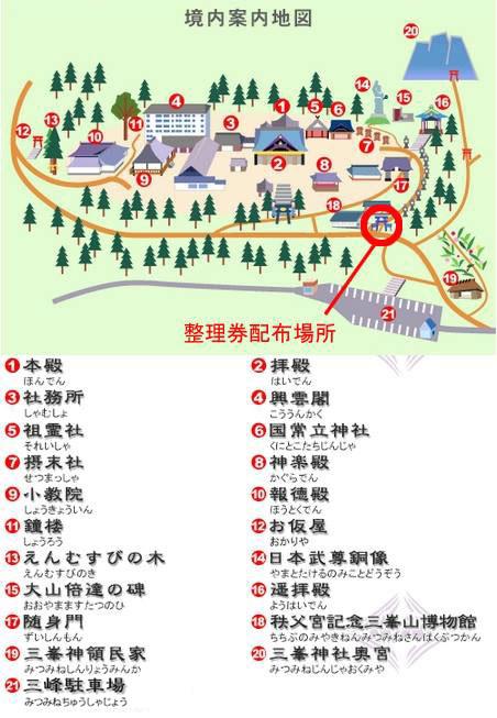 三峯神社案内図の画像