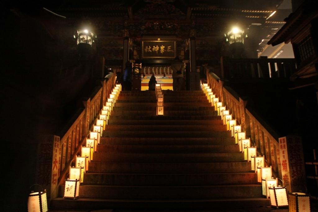 三峯神社祈りの灯火