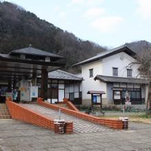 道の駅龍勢会館 裏庭の福寿草