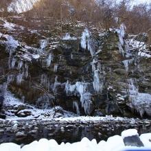大滝三十槌の氷柱