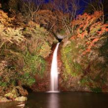 華厳の滝ライトアップの画像