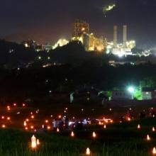 寺坂棚田ホタルかがり火まつり2018の画像
