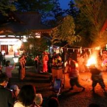 皆野椋神社かがり火獅子舞の画像