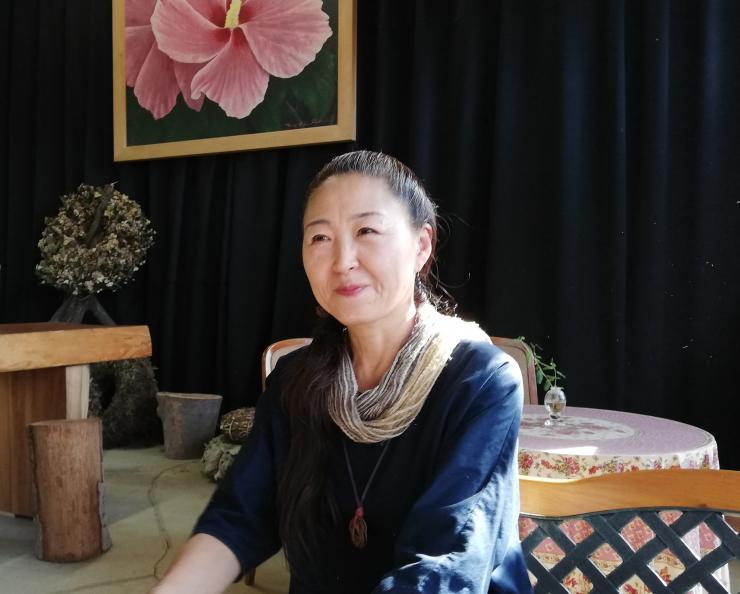 皆野町ムクゲ自然公園 代表 長谷川信枝さん