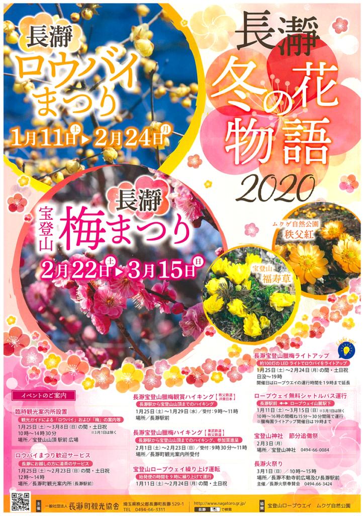 長瀞宝登山梅まつり~長瀞冬の花物語2020~