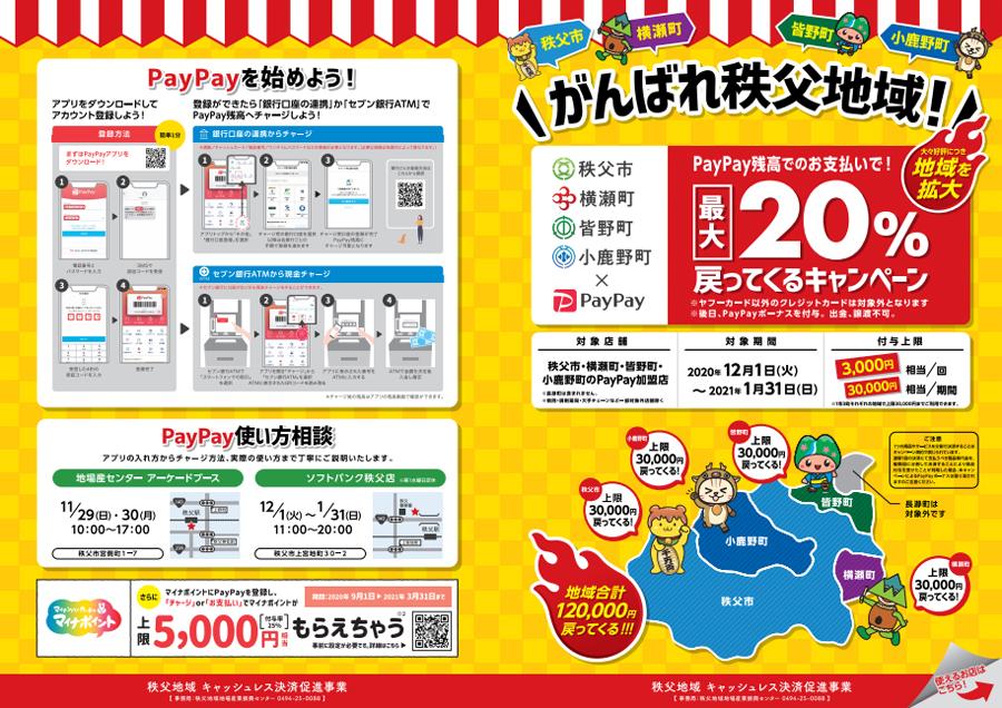 がんばれ秩父地域paypayキャンペーン